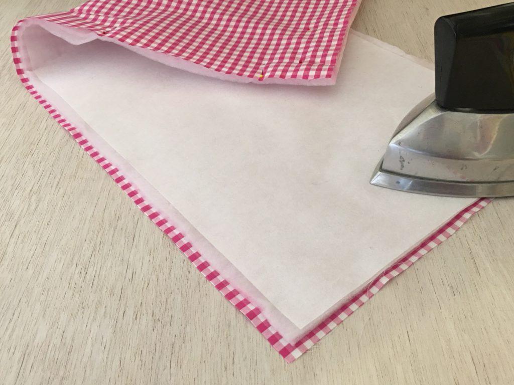 stabilizzatore fissato al tessuto per la borsa porta torta
