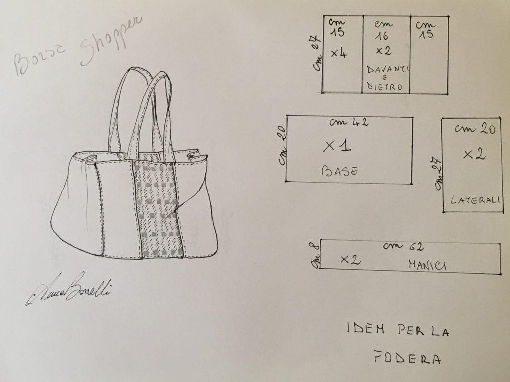 schema per la borsa shopper
