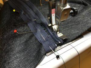 cucire la zip