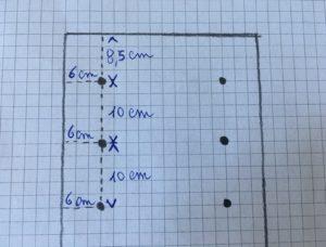schema indicativo per i buchi