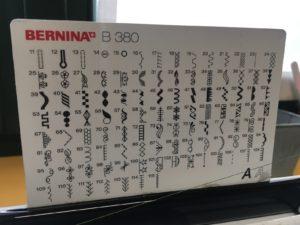 ricami a disposizione per la Bernina B380