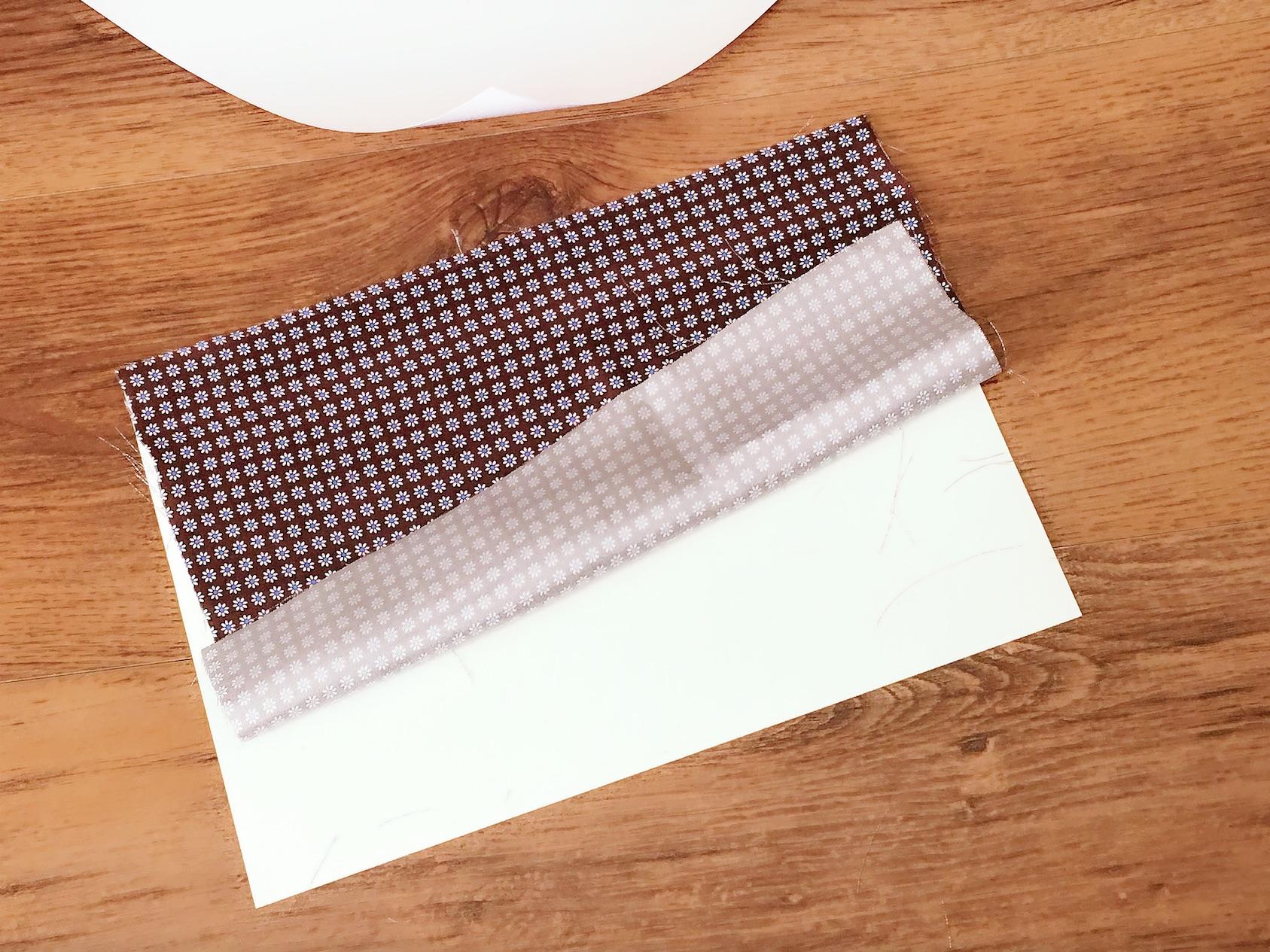 applicate la stoffa alla carta