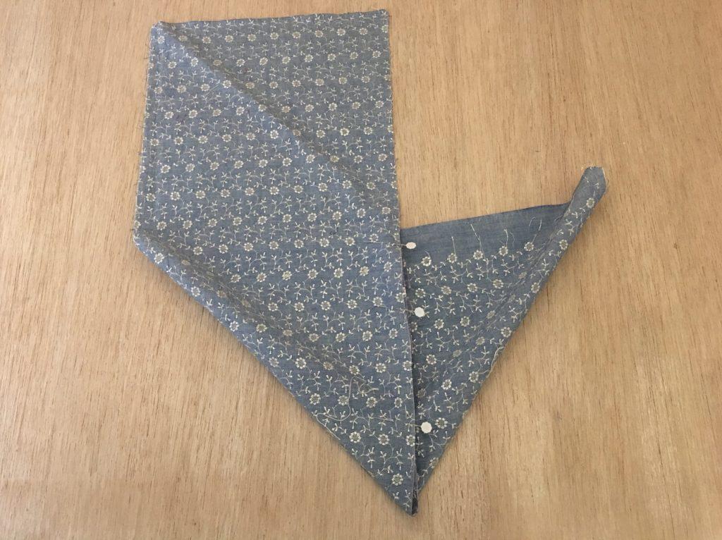 puntate la origami bag con gli spilli
