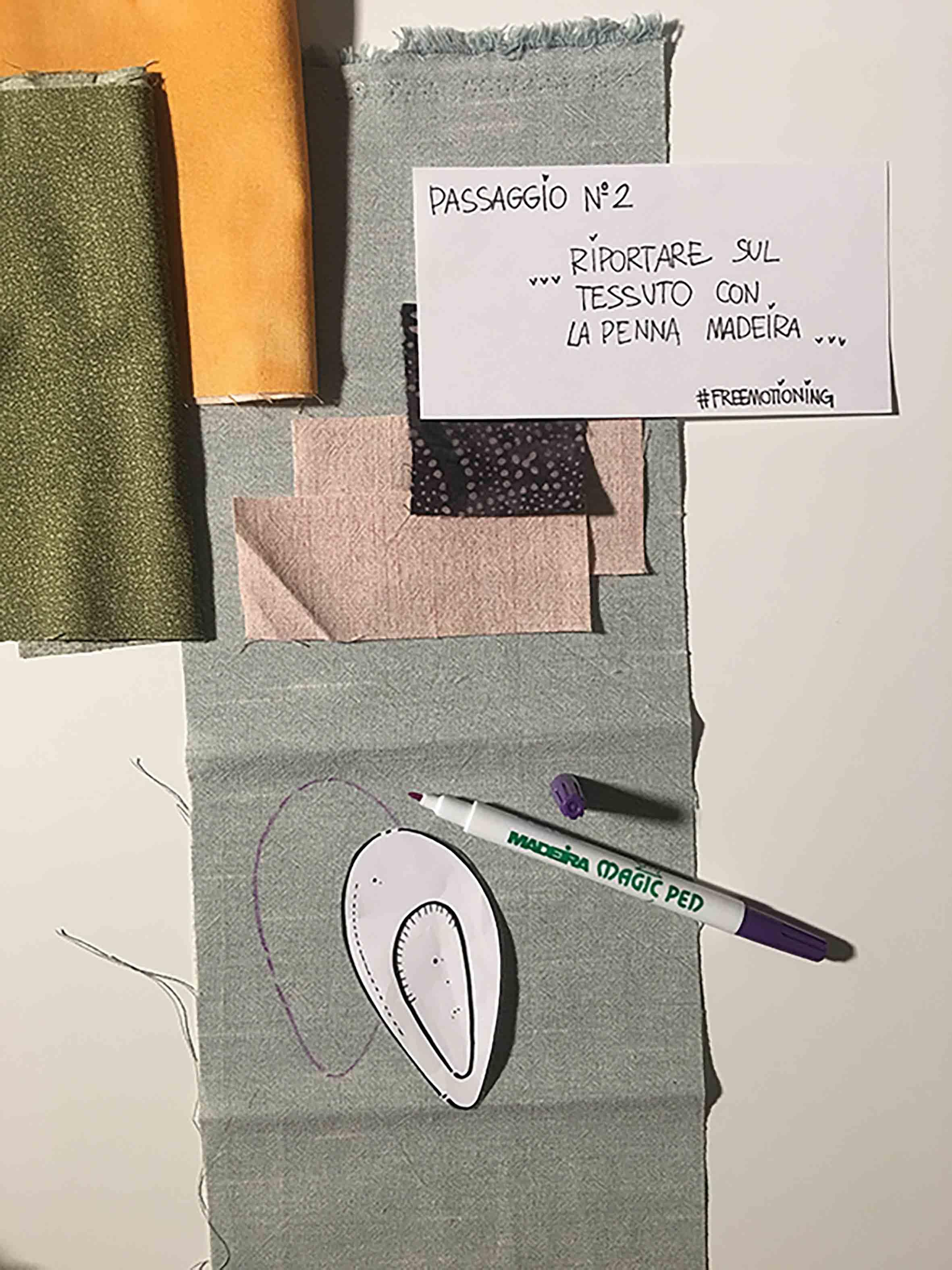 Appoggio dei cartamodelli sui tessuti
