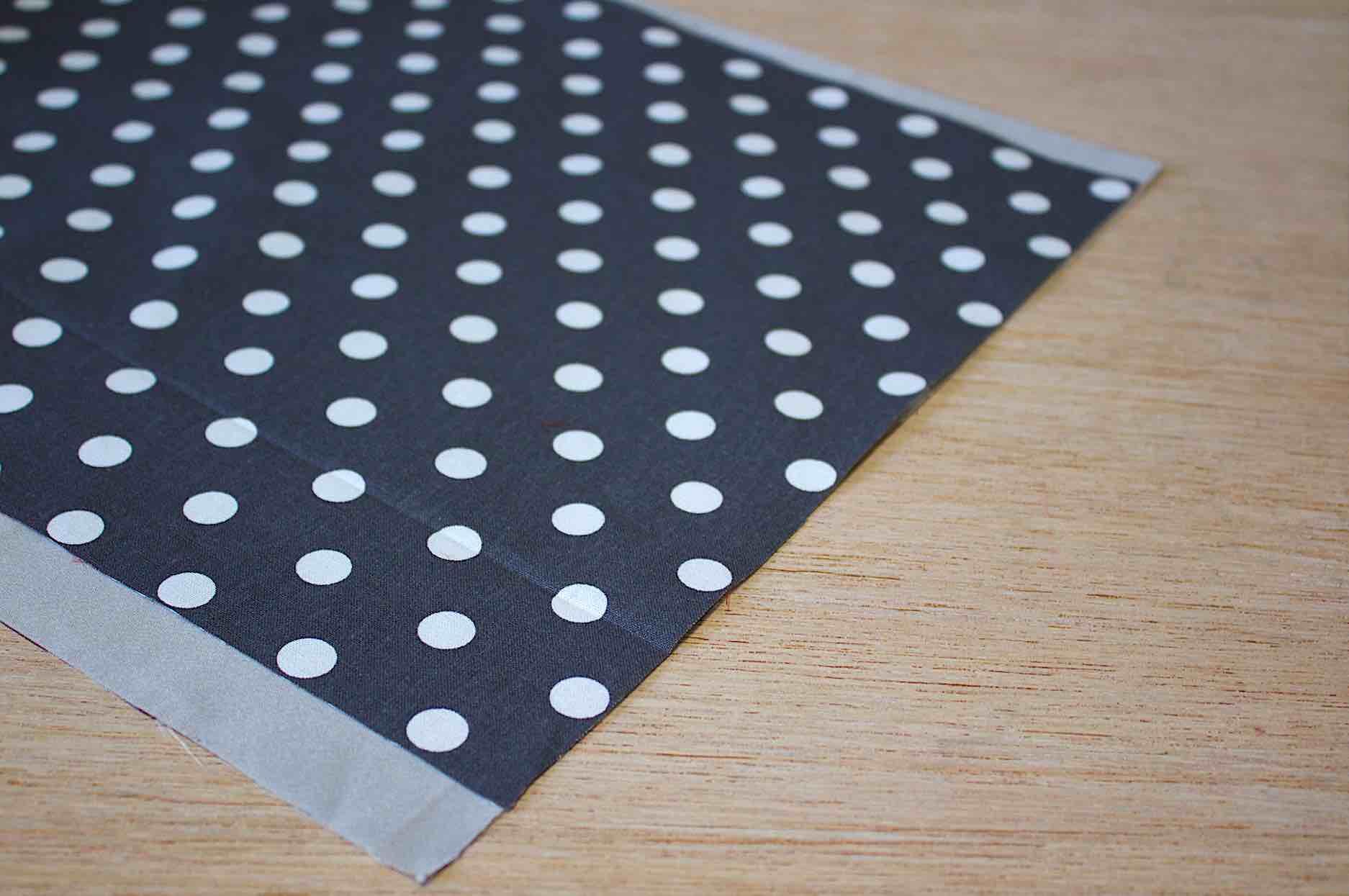 tagliate la fodera più larga di 4 cm