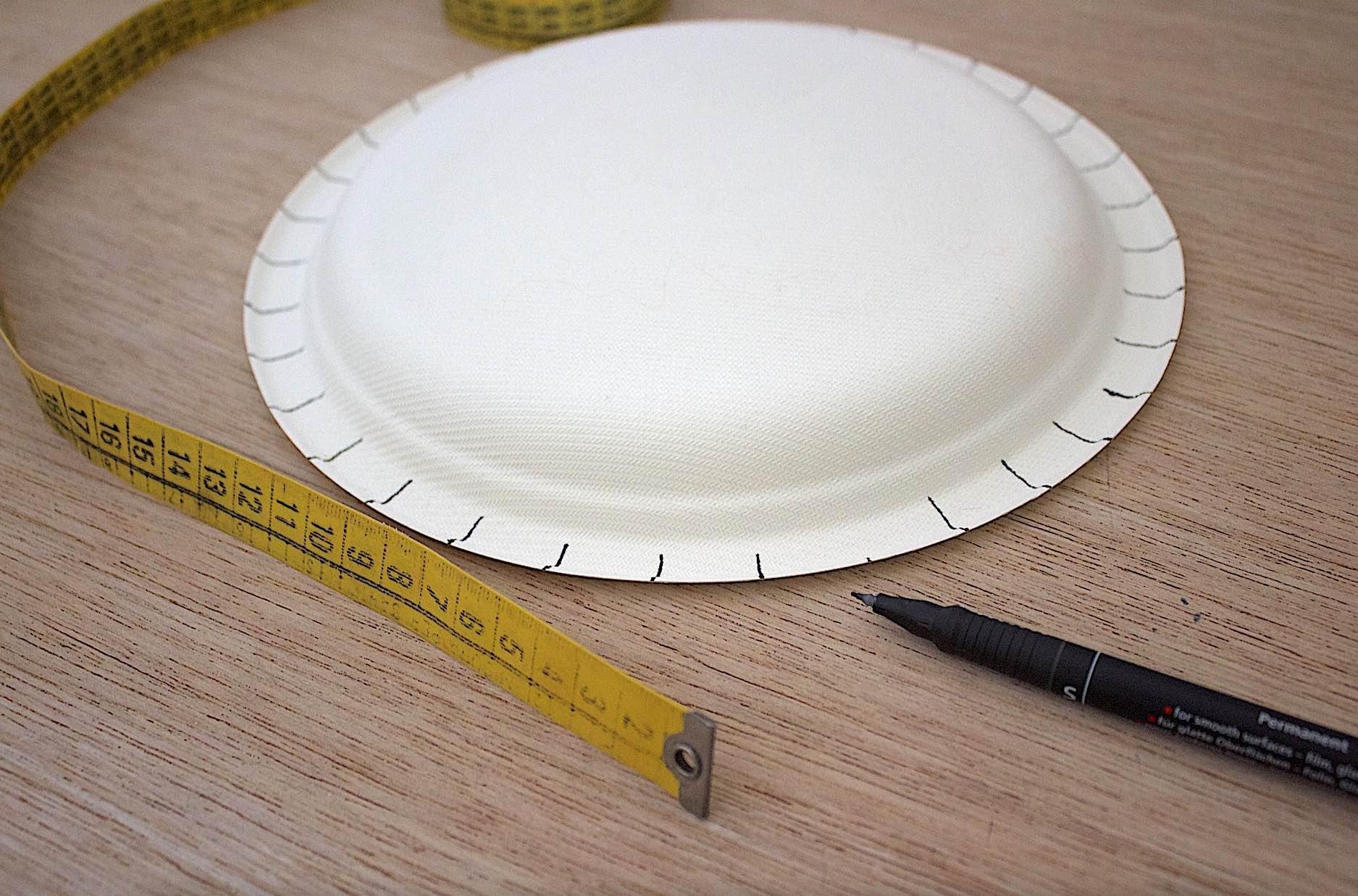 tracciare i punti corrispondenti alle incisioni