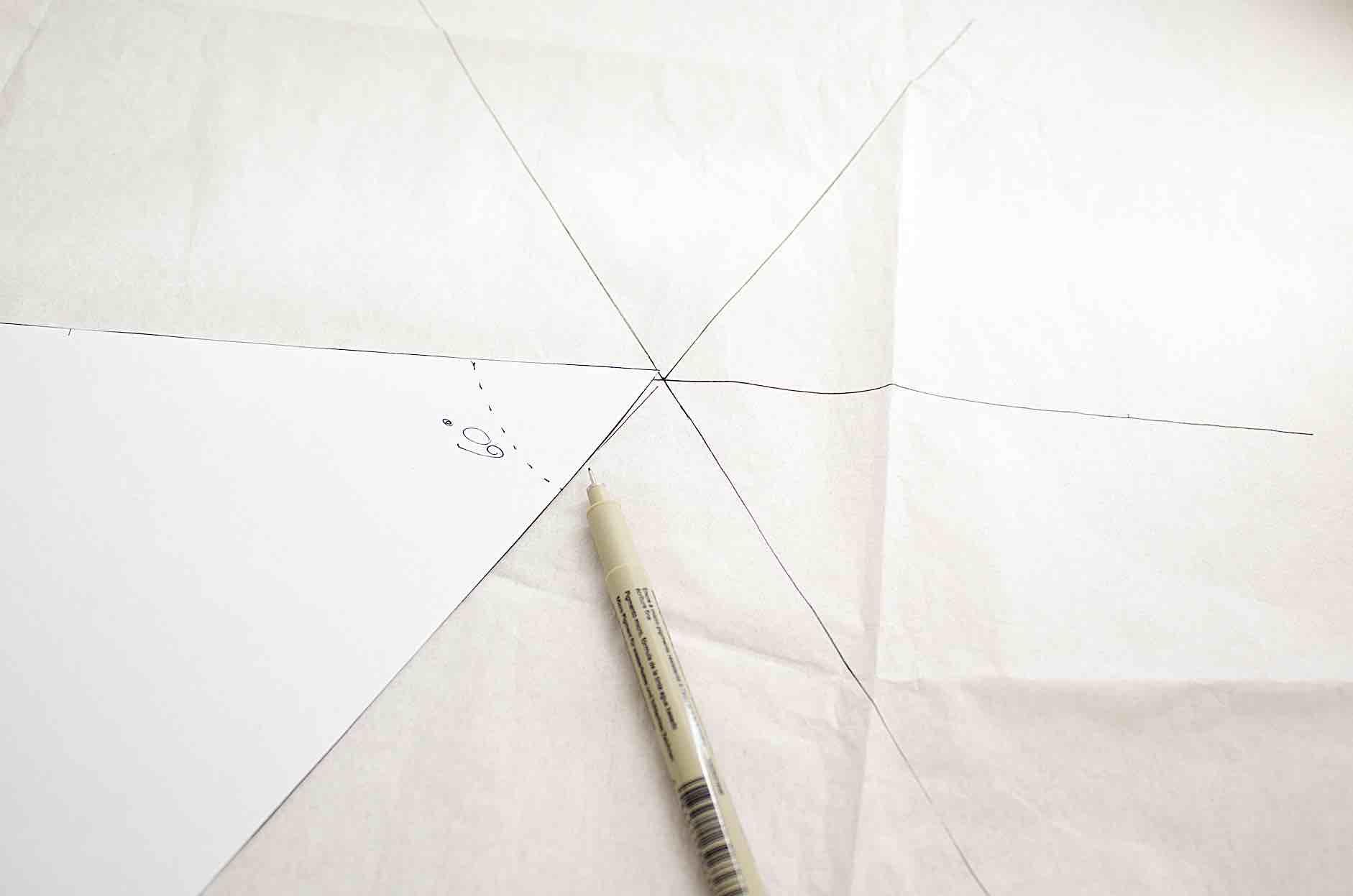 ricreare i 6 triangoli a formare l'esagono