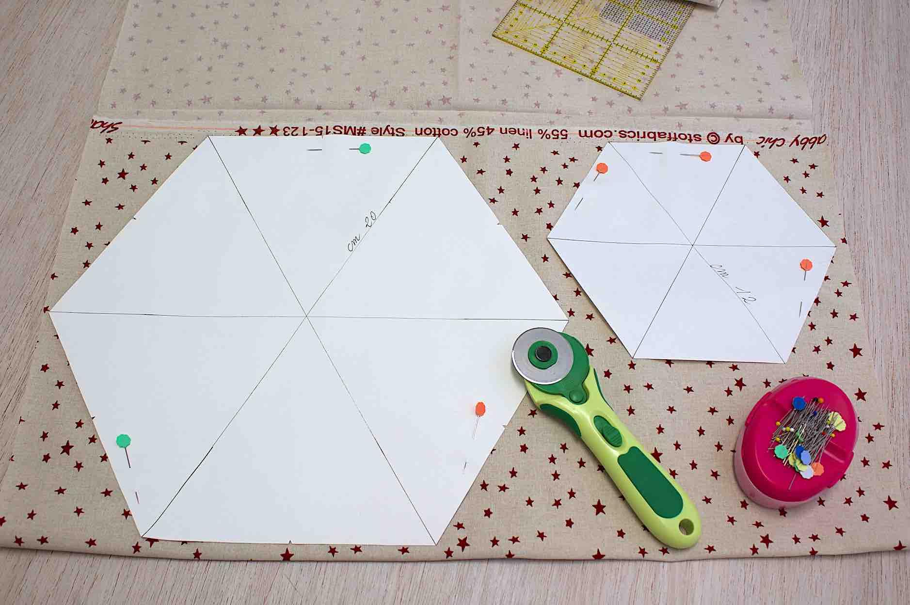 ritagliare 2 parti per ciascun cartamodello