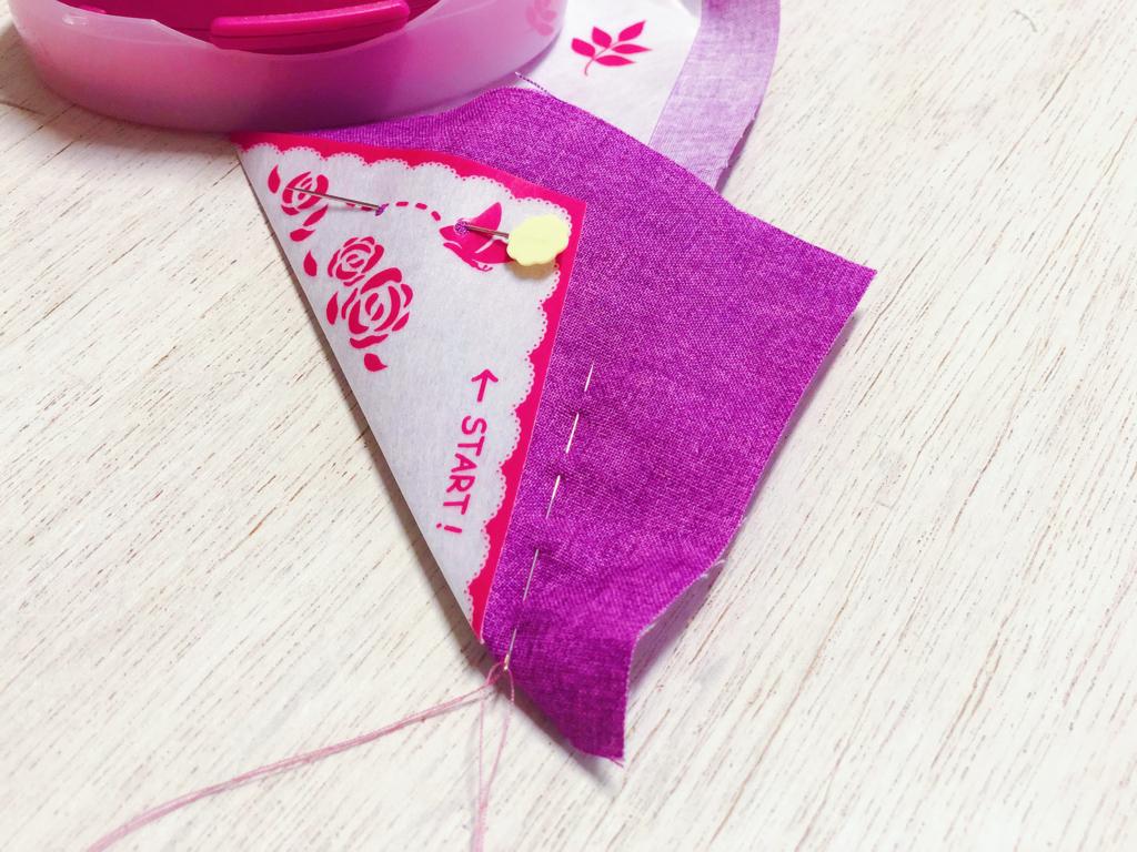 cucite punto filza dallo start del rose makers