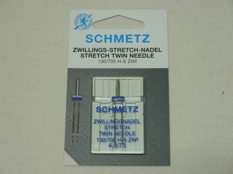 doppio ago o ago gemello da 4 mm per piedino per nervature n°30