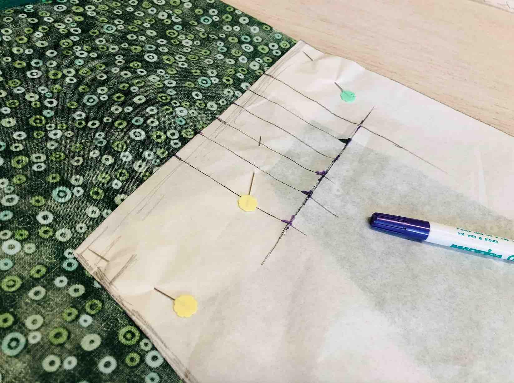 tracciare le nervature con una penna termica