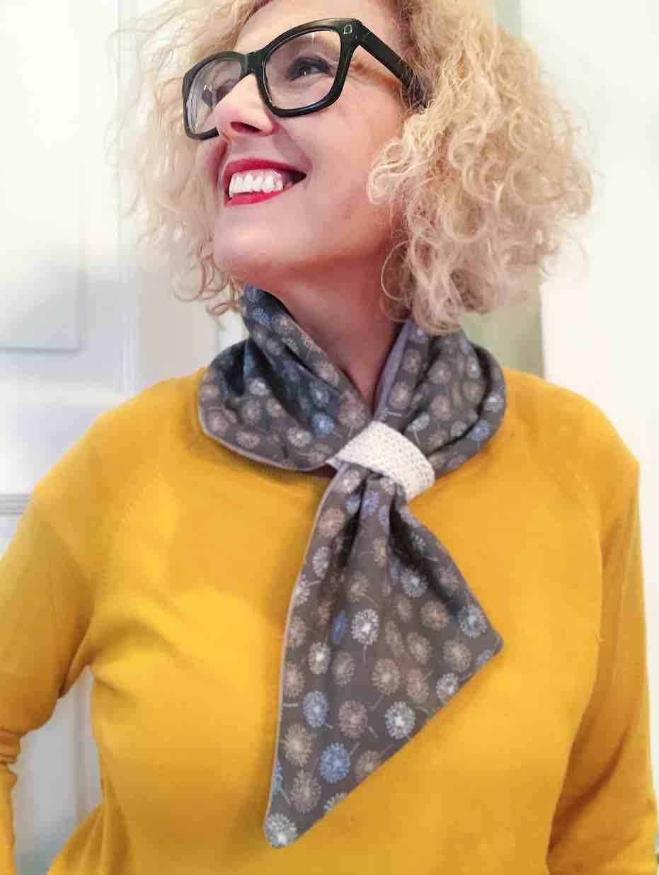 io che indosso la variante fashion scarf imbottita