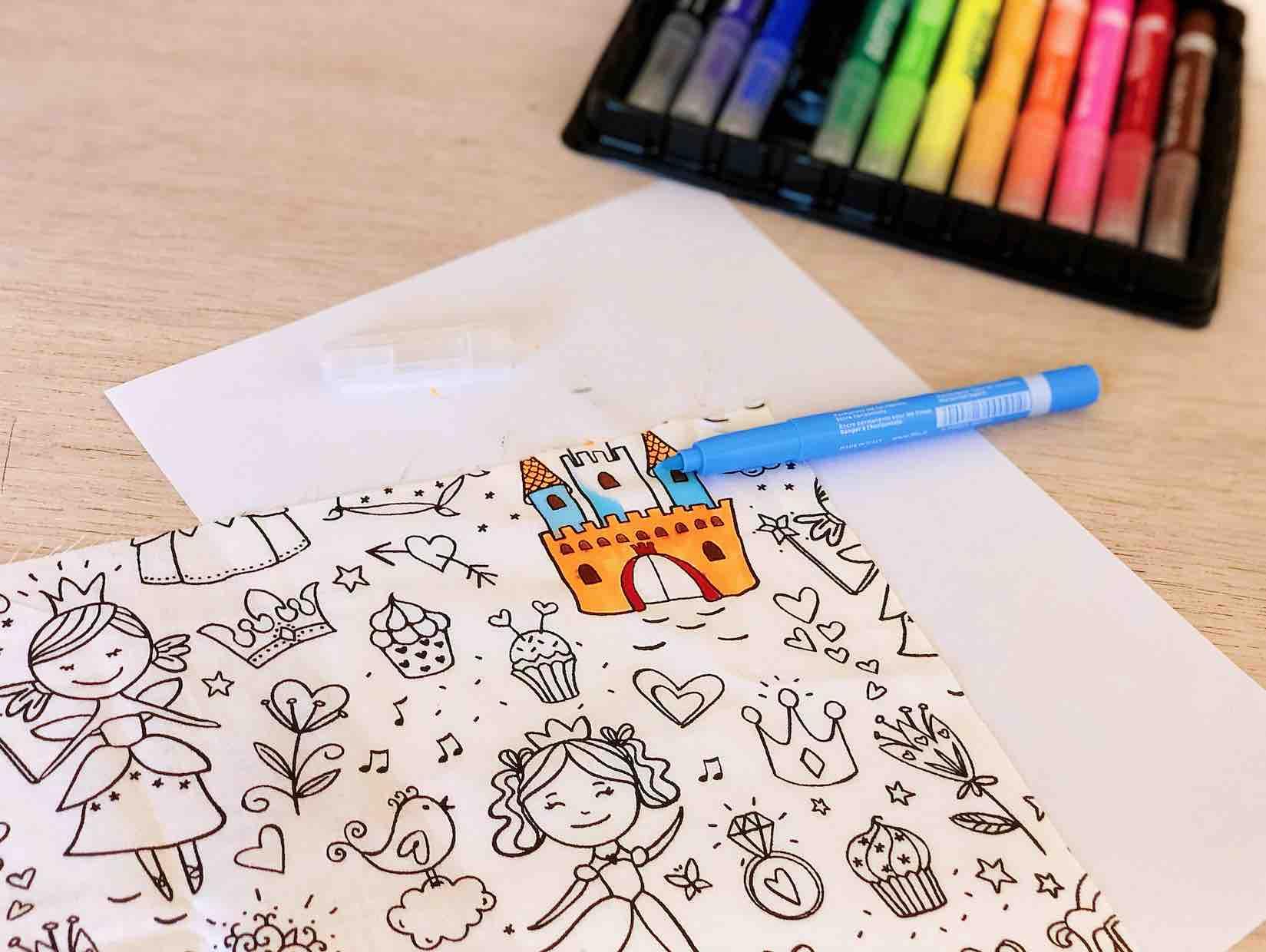 colorare il tessuto lunch