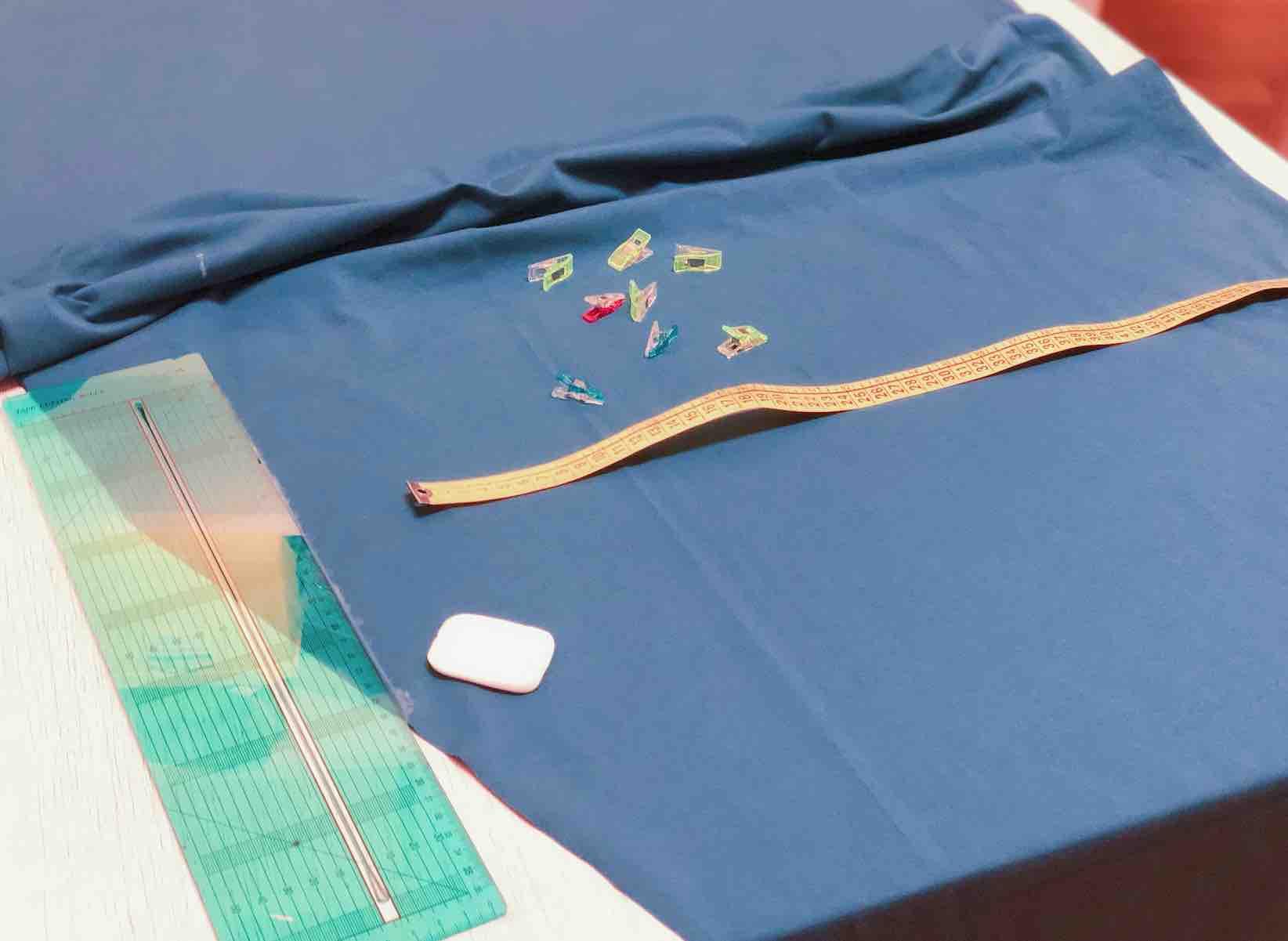 pareggiare il tessuto per ottenere un rettangolo preciso
