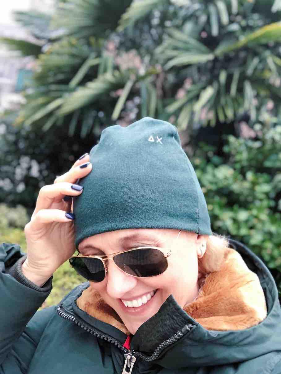 io con il beanie hat