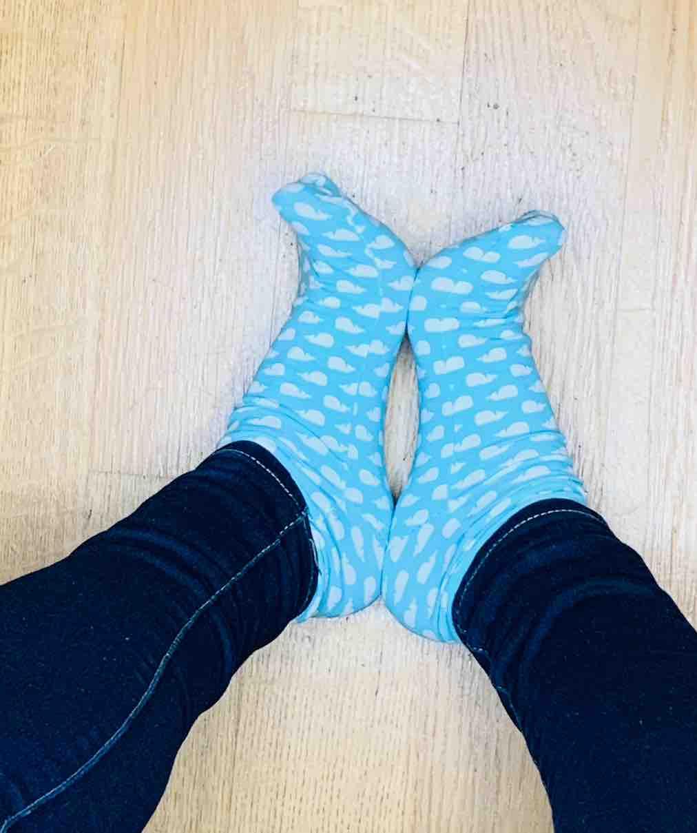 Sempre io con i calzini delfino