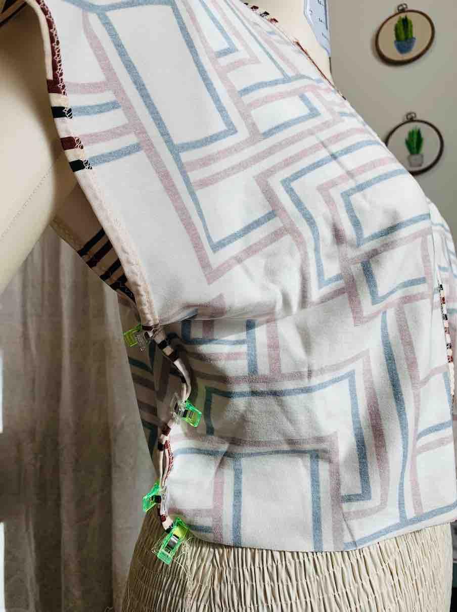 calcolare la chiusura laterale del corpetto dress