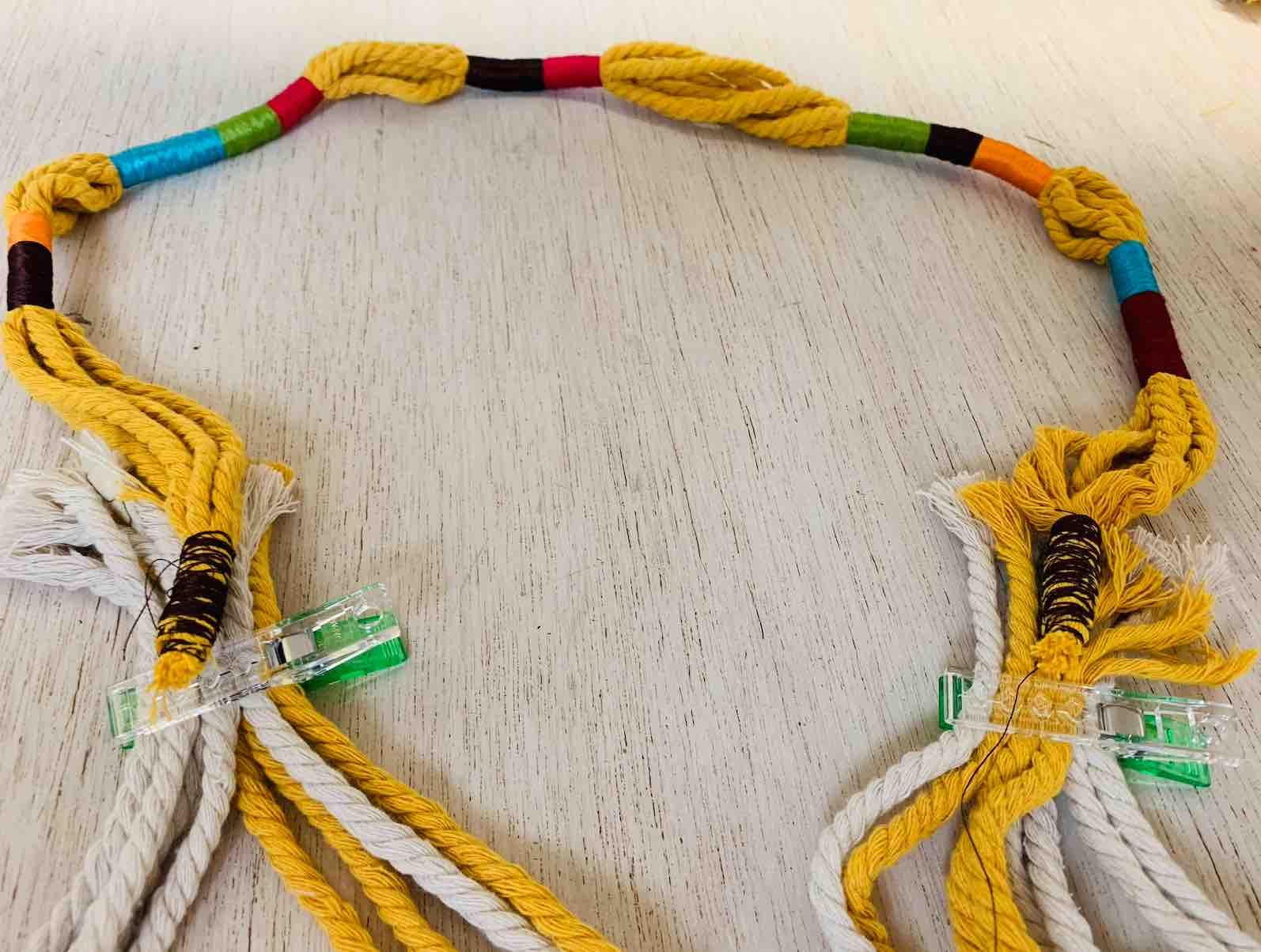 distribuire i fili per i manici
